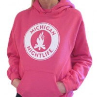 MI Nightlife Pocket Hoodie Pink