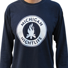 MI Nightlife Navy Tee