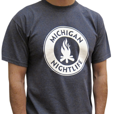 MI Nightlife Heather Navy Tee